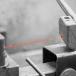 Contrôle laser de l'évidement d'évacuation de gaz d'un noyau